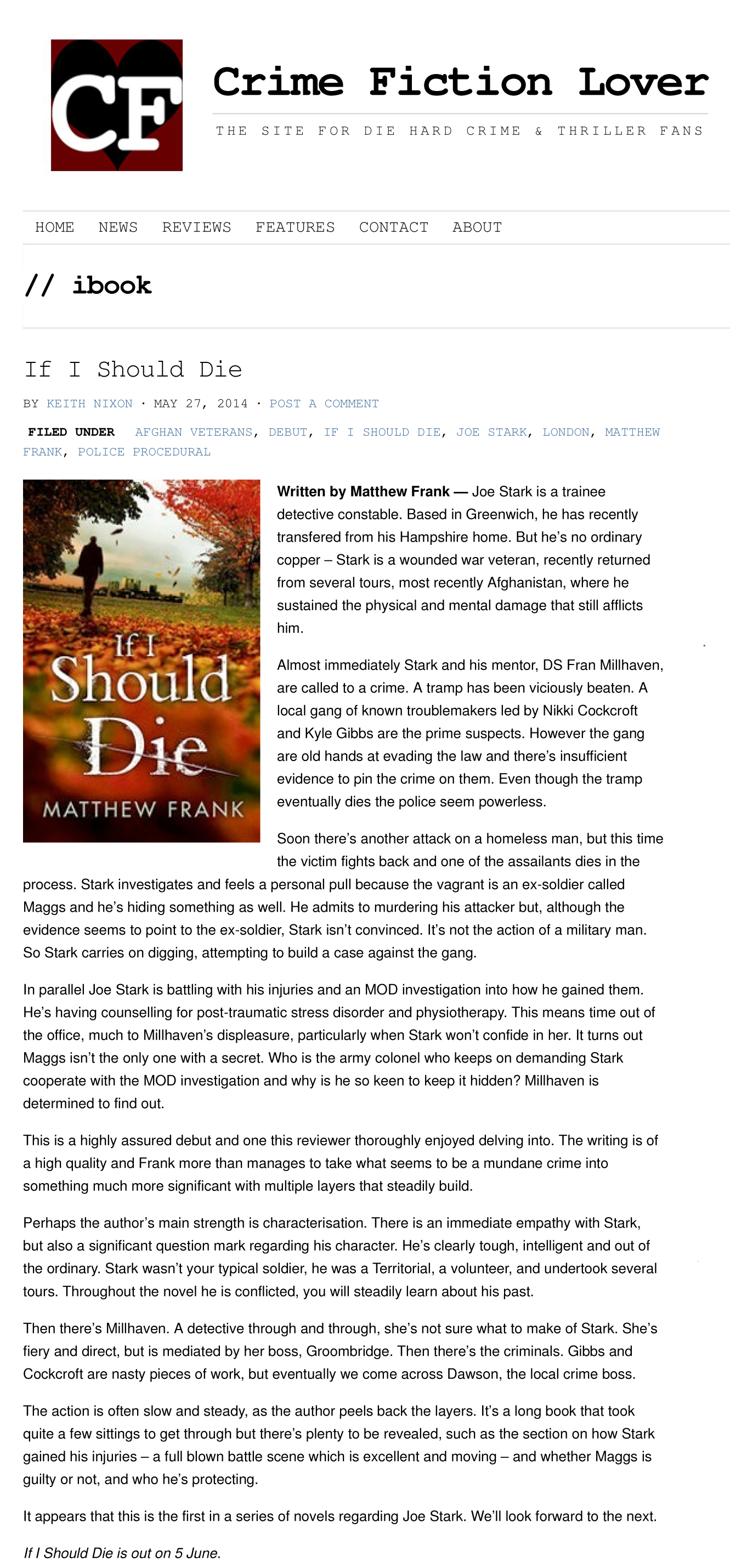 If I Should Die | Crime Fiction Lover