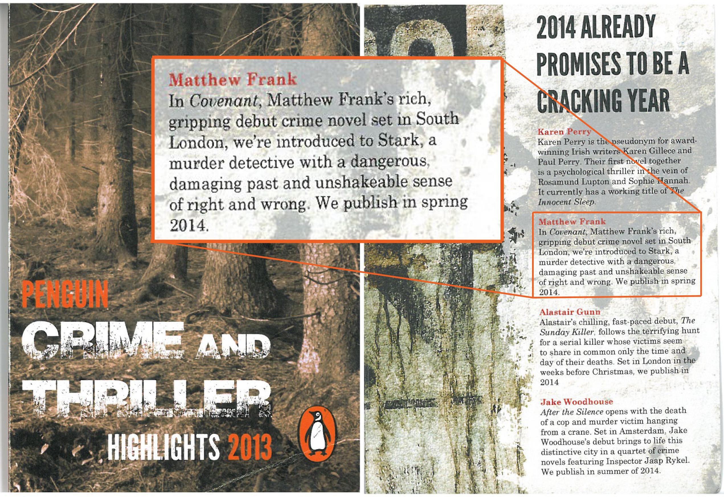 Penguine Crime 2013 - Cover Edit